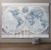 Hemisphere Grand Canvas Wall Tapestry