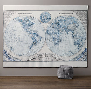 Tapestries decals rh baby child hemisphere grand canvas wall tapestry gumiabroncs Gallery