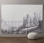 Castle Grand Canvas Wall Tapestry