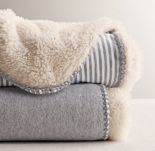 Luxe Sherpa Stroller Blanket