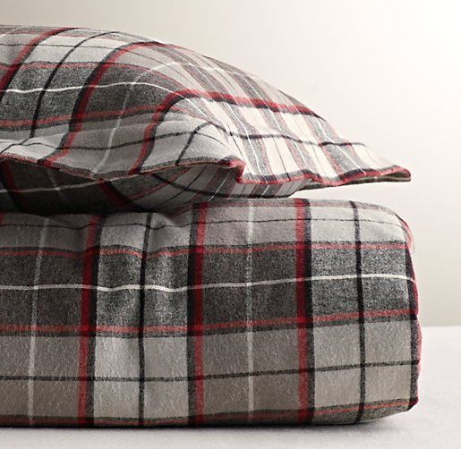lodge plaid flannel duvet cover click to zoom