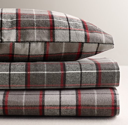 lodge plaid flannel sheet set