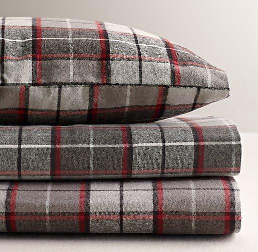 Lodge Plaid Flannel Sheet Set