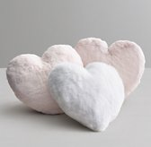Luxe Faux Fur Heart Pillow