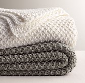 Textural Knit Bed Throw