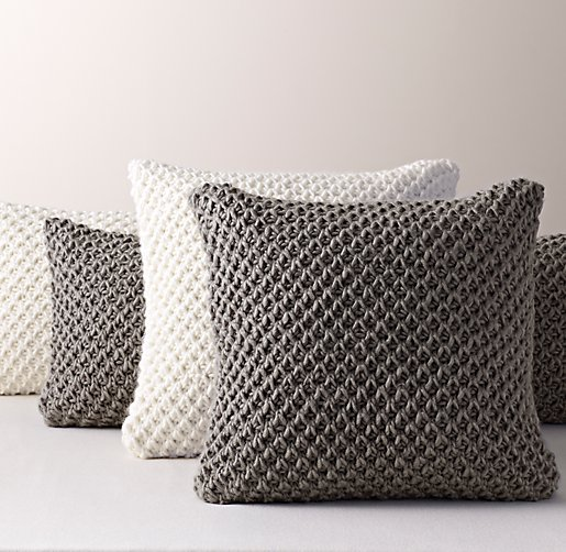 Textural Knit Pillow Cover Amp Insert