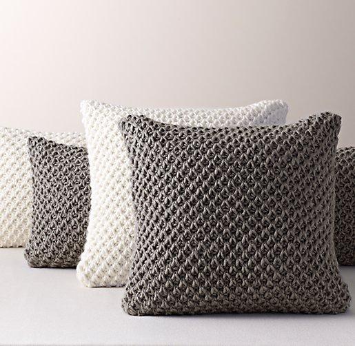 Textural Knit Pillow Cover Insert
