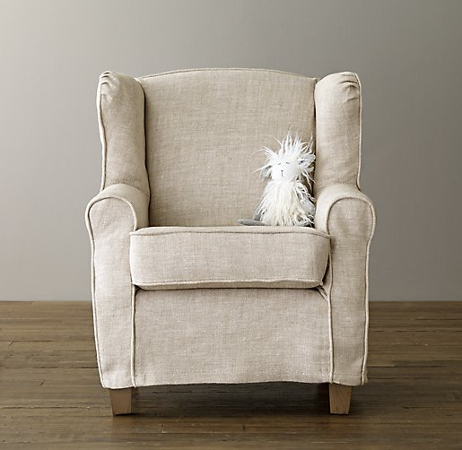 Mini Slipcovered Wing Chair