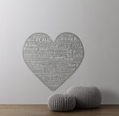 Heart Wall Decal - White