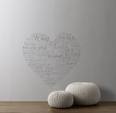 Heart Wall Decal - Grey