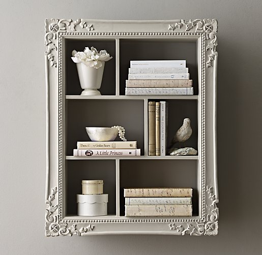 New Bookcase Toy Box White Finish Bedroom Playroom Child: Extra-Large Vintage Hand-Carved Display Shelf