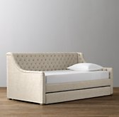 Devyn Tufted Daybed With Trundle - Weathered Oak