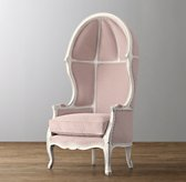 Mini Versailles Velvet Chair - Aged White