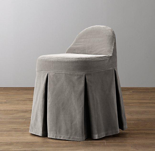 Sensational Maxine Vanity Stool Velvet Custom Slipcover Alphanode Cool Chair Designs And Ideas Alphanodeonline
