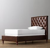 Chesterfield Tufted Leather Bed