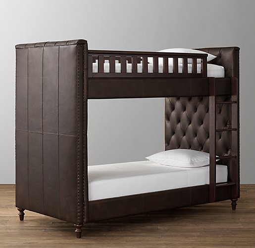 Chesterfield Tufted Leather Bunk Bed