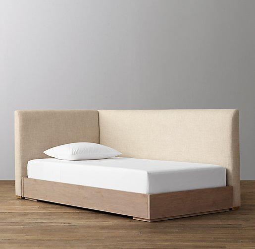 Parker Upholstered Corner Bed With Platform