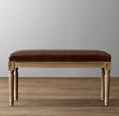 Antoinette Leather Bench