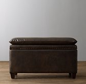 Classic Nailhead Leather Storage Bench