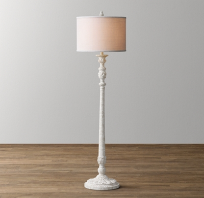 Baroque Candlestick Floor Lamp Base