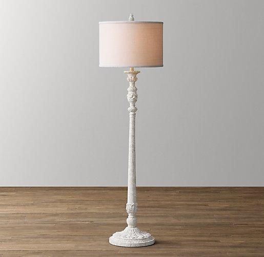 baroque candlestick floor lamp base. Black Bedroom Furniture Sets. Home Design Ideas