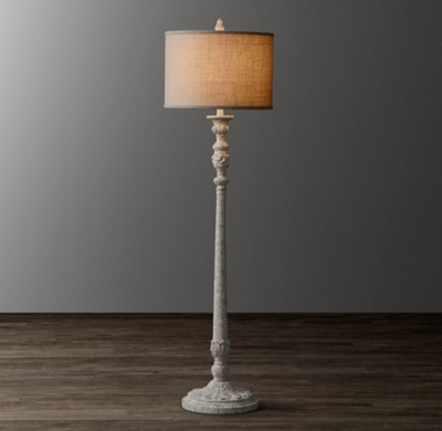 Baroque candlestick floor lamp base aloadofball Image collections