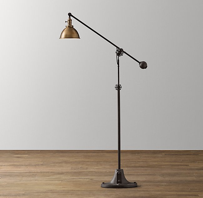Era Task Floor Lamp - Antique Brass