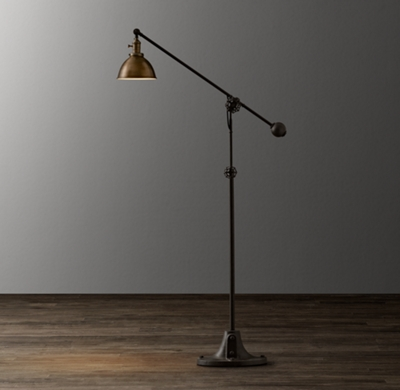 Industrial era task floor lamp antique brass mozeypictures Image collections