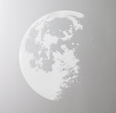 Moon Wall Decal - White