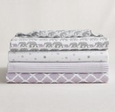 Petite Nursery Muslin Swaddle Blankets Set of 4 - Lilac