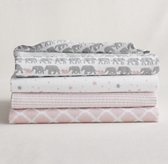 Petite Nursery Muslin Swaddle Blankets (Set of 4)
