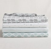 Petite Nursery Muslin Swaddle Blankets - Set of 4