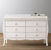 Amira Mosaic Inlay Wide Dresser & Topper Set