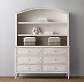 Bellina Wide Dresser Bookcase Hutch