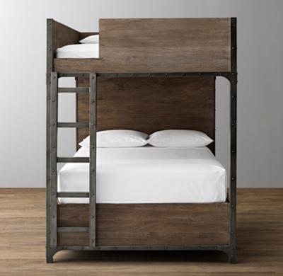 Industrial Locker Full Over Full 3 Drawer Storage Bunk Bed