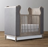 French Upholstered Wing Crib