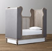 French Upholstered Wing Crib Toddler Bed Conversion Kit