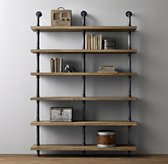 Industrial Pipe Wide Shelving