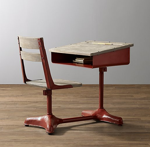 Vintage Schoolhouse Desk & Chair
