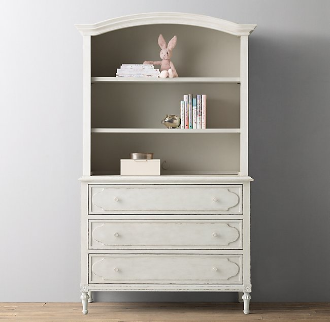 Bellina Dresser Bookcase Hutch Set