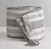 Washed Organic Linen Stripe Crib Bumper