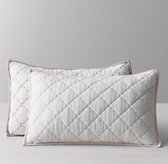 Stitched Diamond Quilted Boudoir Sham
