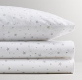 Washed Percale Star Print Sheet Set
