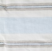 Washed Organic Linen Stripe Bedding Swatch