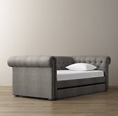 Chesterfield Tufted Velvet Daybed With Trundle