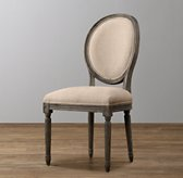 Mini Vintage French Upholstered Chair - Burnt Oak