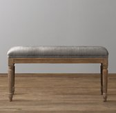 Antoinette Velvet Bench - Weathered Oak