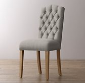 Tufted Camelback Velvet Desk Chair - Weathered Oak