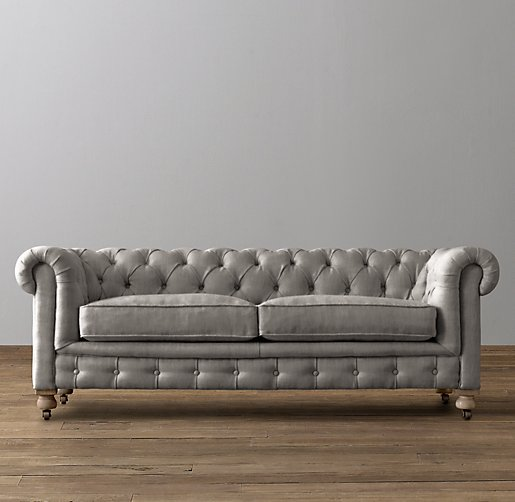 Mini Kensington Velvet Sofa