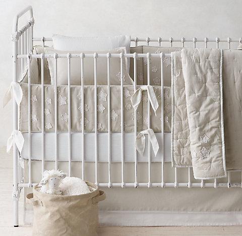 Little Star Applique Nursery Bedding Collection Rh Baby Child